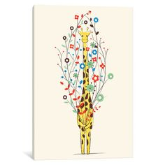"""Viv + Rae I Brought You These Flowers Graphic Art on Wrapped Canvas Size: 12"""" H x 8"""" W x 0.75"""" D"""
