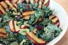 Kale Waldorf Salad with Grilled Apples