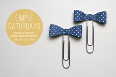 Paper Bow Bookmark