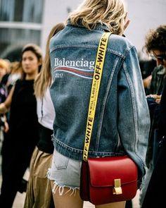 Celine Balenciaga Off White. Street style. ETOILE LUXURY VINTAGE