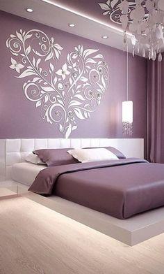 Best Glidden Interior Paint Colors for a Purple Bedroom Luxury Bedroom Design, Bedroom Bed Design, Bedroom Furniture Design, Girl Bedroom Designs, Home Decor Bedroom, Living Room Decor, Interior Design, Purple Bedroom Design, Bedroom Ideas
