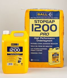 F. Ball and Co. Ltd, the UK's leading manufacturer of flooring adhesives and subfloor preparation products, has launched Stopgap 1200 Pro, the minimum preparation, maximum performance smoothing underlayment, specially designed for use directly over old adhesive residues, including bitumen and carpet tile tackifiers.