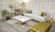"Living area ""Epoque"" Epixilon by Victor Taliadouros... #epixilon #creations #livingarea #sofa #coffeetable #loungechair #classic"