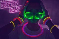 カラーラン姉妹イベント「ELECTRO DASH」が日本初上陸!蛍光グッズでナイトランを楽しもう! 5枚目の画像