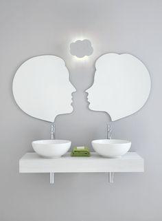 doppio lavabo specchio mobiletto - Cerca con Google
