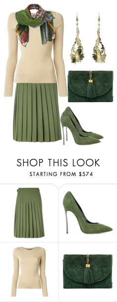 """""""Untitled #1258"""" by naviaux ❤ liked on Polyvore featuring Le Kilt, Casadei, Dolce&Gabbana, Chanel and Alberta Ferretti"""