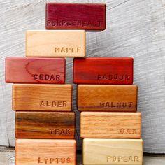 Set of 10 Natural Hardwood Building Blocks by asherjasper on Etsy