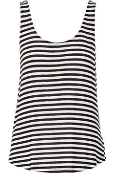Shop on-sale Splendid Striped stretch-jersey tank. Browse other discount  designer Tops & more on The Most Fashionable Fashion Outlet, THE OUTNET.