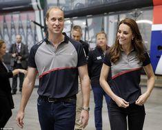 The royal couple were wearing matching Sir Ben Ainslie Lard Rover BAR polo shirts when th...