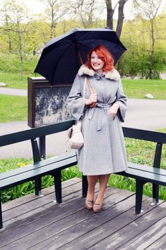 Beautiful vintage fur collar coat <3 | Elsa Billgren