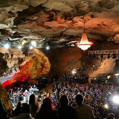 Try to see a concert here! Bluegrass Underground in Cumberland Caverns — McMinnville, Tennessee Oh The Places You'll Go, Places To Travel, Places To Visit, Hidden Places, Cumberland Caverns, Nashville Trip, Exterior, Concert Venues, Adventure Is Out There
