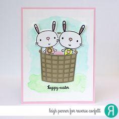 Reverse Confetti   www.reverseconfetti.com   February Release   Hippity Hoppity   Easter Card by Leigh Penner