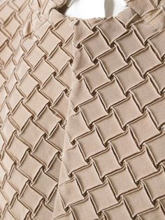 Fabric Manipulation - textured jacket with geometric pattern; origami fashion detail; innovative textiles design // Issey Miyake: