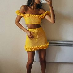 I'm eventually gonna have to start hiring fellow crocheters to work with me. just so that I have an idea of what I'm looking at, who'd be willing? Crochet Beach Dress, Crochet Bra, Crochet Clothes, Crotchet, Casual Summer Outfits, Cute Outfits, Outfit Summer, Crochet Fashion, Crochet Designs