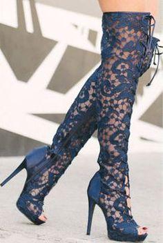 Lace Knee-hi Boots
