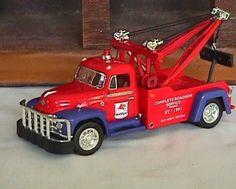 """ Mobilgas 1955 Diamond T Tow Truck "" Karodens Diecast Models."