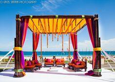 Rita and Kumar South Indian Wedding Marigold Garlands Marriott Harbor Beach Florida Jennifer J Events2