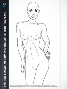 The fashion illustration female torso plays an important part in projecting a fashion image.