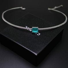 Chanel Style Designer Inspired Vintage Topaz CZ Choker Necklace