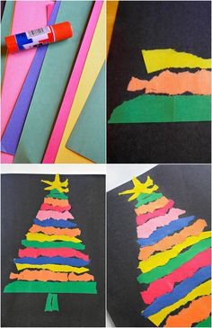 Practice fine motor skills without scissors! This Ripped Paper Tree uses only 2 … Practice fine motor skills without scissors! This Ripped Paper Tree uses only 2 materials and can be fun for all ages. Perfect for Christmas and Fall themes Christmas Art For Kids, Simple Christmas Cards, Christmas Paper Crafts, Preschool Christmas, Paper Crafts For Kids, Christmas Crafts For Kids, Christmas Activities, Crafts To Do, Holiday Crafts