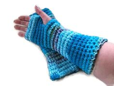 Long Chunky Fingerless Gloves Wrist warmers by UniquelyYourDesigns, £12.00