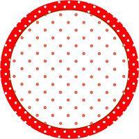 Imprimés Pois - Rouge/Blanc : http://fazendoanossafesta.com.br/2012/01/vermelho-e-branco-bolinhas-kit-completo-com-molduras-para-convites-rotulos-para-guloseimas-lembrancinhas-e-imag