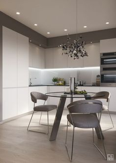 Kitchen Color Ideas For Walls is extremely important for your home. Whether you pick the Rever Pewter Benjamin Moore or Paint Ideas For Kitchen Walls, you will create the best Kitchen Soffit Decorating Ideas for your own life. Kitchen Colors, Kitchen Remodel, Kitchen Decor, Kitchen Room Design, Home Kitchens, Modern Kitchen Interiors, Kitchen Sets, Kitchen Soffit, Kitchen Design