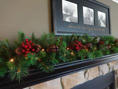 Image result for christmas garlands above windows