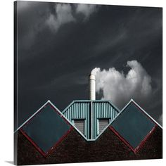 "Canvas On Demand The Cloud Factory by Gilbert Claes Photographic Print on Canvas Size: 20"" H x 20"" W x 1.25"" D"