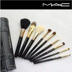 set 9 pinceles y brochas mac edicion limitada.
