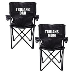 Trojans Parents 2 Black Folding Camping Chair Set of 2 with Carry Bags *** Find out more about the great product at the image link.(This is an Amazon affiliate link and I receive a commission for the sales) #CampingFurniture
