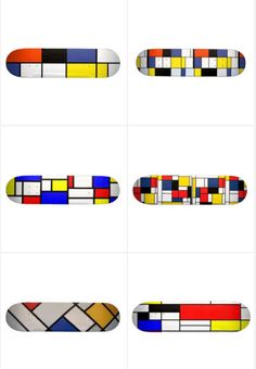 Mondrian skate decks.
