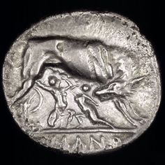 Cr 20-1-Reverse - Romulus ve Remus - VikipediRomulus ve Remus. Gümüş drahmi (6,44 g). MÖ 269-MÖ 266