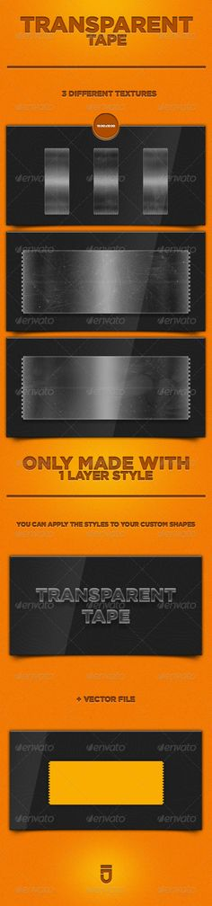 Transparent Tape — PSD Template • Only available here! →…