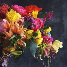 """""""Kicking off the Spring 2015 wedding season with this burst of color."""""""
