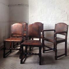 Set of five leather & oak dining chairs-the-dipper-IMG_1668_main_635999780970542037.jpg