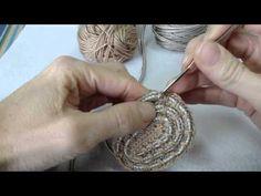 Crochet basket using clothesline Crochet Rope, Crochet Chart, Easy Crochet Patterns, Crochet Stitches, Knit Crochet, Crochet Baby, Plastic Bag Crochet, Rope Rug, Big Knit Blanket