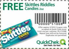 FREE Skittles Riddles Candies at QuickChek on http://www.icravefreebies.com