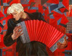 Тутунджан Д.Т. Черный ворон (Портрет В. В. Невзорова, заключенного без вины на 17 лет). 1989. Холст, масло. ВОКГ.