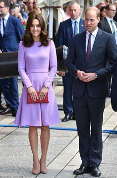 The couple were once again perfectly colour-coordinated, with both adding purple hues to t...