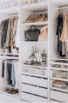 small closet ideas, Closet Designs, wardrobe design, walk-in closet ideas, dressing room ideas Closet Walk-in, Closet Door Storage, Closet Doors, Closet Drawers, Walk In Closet Ikea, Closet Space, Wardrobe Storage, Closet Shelves, Ikea Drawers