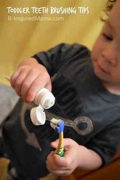 Toddler Teeth Brushing Tips - Sponsored by Aquafresh at B-Inspired Mama