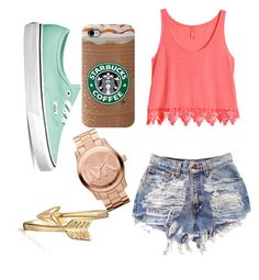 """Day out w/ my friends"" by rebecca-gardner-1 ❤ liked on Polyvore featuring H&M, Vans, Bling Jewelry and Michael Kors"