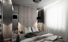 Projekt sypialni Inventive Interiors - klimatyczna sypialnia glamour