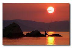#fishing during #Sunset in Naxos