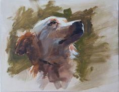 Patrick Saunders Fine Arts: Dog Portrait Painting Demonstration