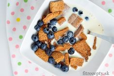Perfektne chrumkavé cereálie - FitRecepty Cottage Cheese, Raw Food Recipes, Tofu, Smoothie, Cereal, Oatmeal, Granola, Vegan, Cooking