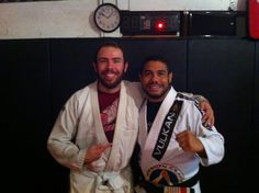 @Joshua Jenkins with 5th degree #bjj black belt Cleber Luciano.