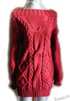 Теплое платье с «косами» — Две нитки