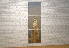The Chrysler Building - Canvas Chrysler Building, Canvas Frame, Wall Lights, Lighting, Home Decor, Appliques, Decoration Home, Room Decor, Lights